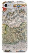Antique Map Of Ireland IPhone Case by  English School