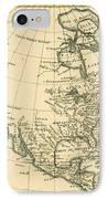 Antique Map Of North America IPhone Case