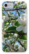 Apple Blossoms Art Prints 60 Spring Apple Tree Blossoms Blue Sky Landscape IPhone Case