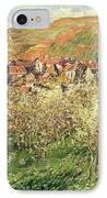 Apple Trees In Blossom IPhone Case by Claude Monet