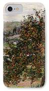 Apple Trees Near Vetheuil IPhone Case by Claude Monet