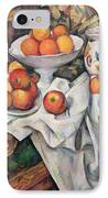 Apples And Oranges IPhone Case by Paul Cezanne