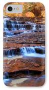 Archangel Falls In Zion National Park IPhone Case by Pierre Leclerc Photography