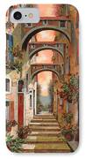 Archetti In Rosso IPhone Case by Guido Borelli