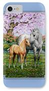 Spring's Gift - Mare And Foal IPhone Case by Crista Forest