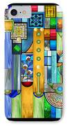 Art Deco Stained Glass 1 IPhone Case