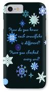Snowflakes 2 IPhone Case by Methune Hively