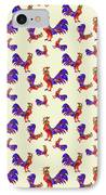 Red Rooster Art IPhone Case by Christina Rollo