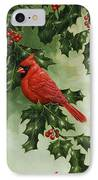 Cardinals Holiday Card - Version Without Snow IPhone Case by Crista Forest
