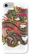 Asian Dragon IPhone Case by Maria Arango