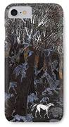 Asil In Shitaki Forest IPhone Case by Al Goldfarb