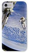Astronaut In Atmosphere IPhone Case by Jennifer Rondinelli Reilly - Fine Art Photography