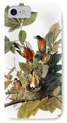Audubon: Robin IPhone Case