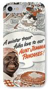 Aunt Jemima Ad, 1948 IPhone Case by Granger