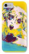 Aussie Puppy-yellow IPhone Case by Jane Schnetlage
