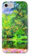 Autumn Pond In Gladwyne IPhone Case by Bill Cannon