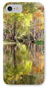 Autumn Reflection On Florida River IPhone Case by Carol Groenen