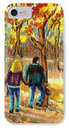 Autumn  Stroll On Mount Royal IPhone Case