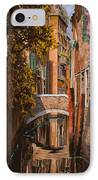 autunno a Venezia IPhone Case by Guido Borelli