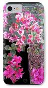 Back Door Bougainvillea IPhone Case by Eikoni Images