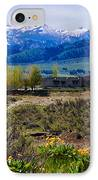 Balsamroot Flowers And North Cascade Mountains IPhone Case