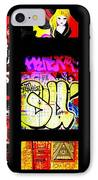 Barcelona Graffiti  IPhone Case by Funkpix Photo Hunter