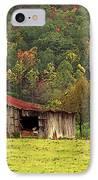 Barn North Carolina 1994 IPhone Case by Michelle Wiarda