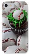 Baseball Cupcake IPhone Case by Garry Gay