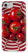 Basket Full Of Red Tomatoes  IPhone Case