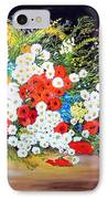 Basket With Summer Flowers IPhone Case