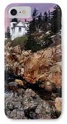 Bass Harbor Head Lighthouse In Maine IPhone Case by Skip Willits