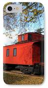 Batavia Depot Caboose IPhone Case by Ely Arsha