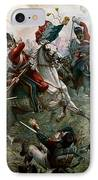 Battle Of Waterloo IPhone Case by William Holmes Sullivan