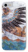 Beaked Dragon Flies Above The Sea IPhone Case by Carol  Law Conklin