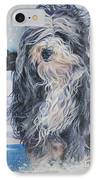 Bearded Collie In Snow IPhone Case