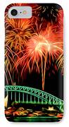 Beautiful Colorful Holiday Fireworks 2 IPhone Case by Lanjee Chee