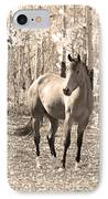 Beautiful Horse In Sepia IPhone Case