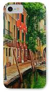 Beautiful Side Canal In Venice IPhone Case by Charlotte Blanchard