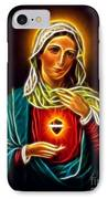 Beautiful Virgin Mary Sacred Heart IPhone Case