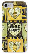Bee Happy IPhone Case by Jen Norton