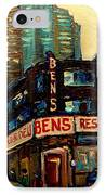 Bens Restaurant Deli IPhone Case by Carole Spandau