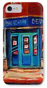 Bernard Fruit And Broomstore IPhone Case