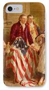Betsy Ross 1777 IPhone Case by Jean Leon Gerome Ferris