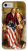 Betsy Ross And General George Washington IPhone Case by War Is Hell Store