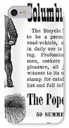 Bicycle Ad, 1880 IPhone Case