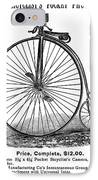 Bicycle Camera Ad, 1887 IPhone Case by Granger