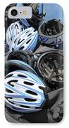 Bicycle Helmets IPhone Case by Photostock-israel
