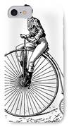 Bicycling, C1890 IPhone Case by Granger