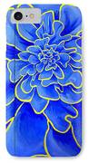 Big Blue Flower IPhone Case by Geoff Greene