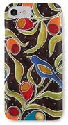 Bird On Blooms Branch IPhone Case by Karla Gerard